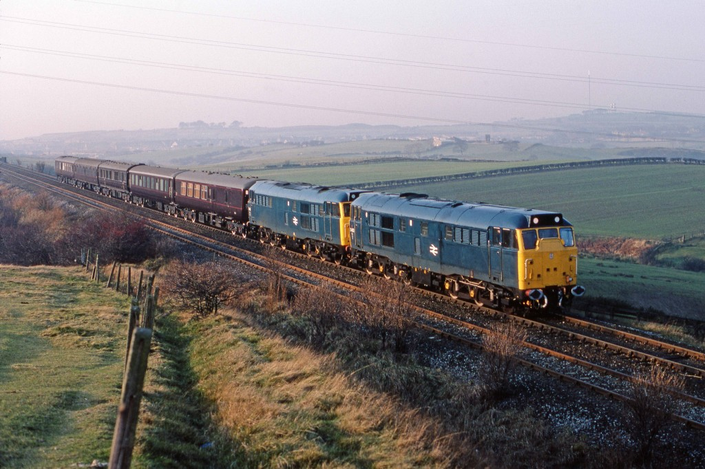 Royal Train between Annf. Plain & Stanley 3-12-82