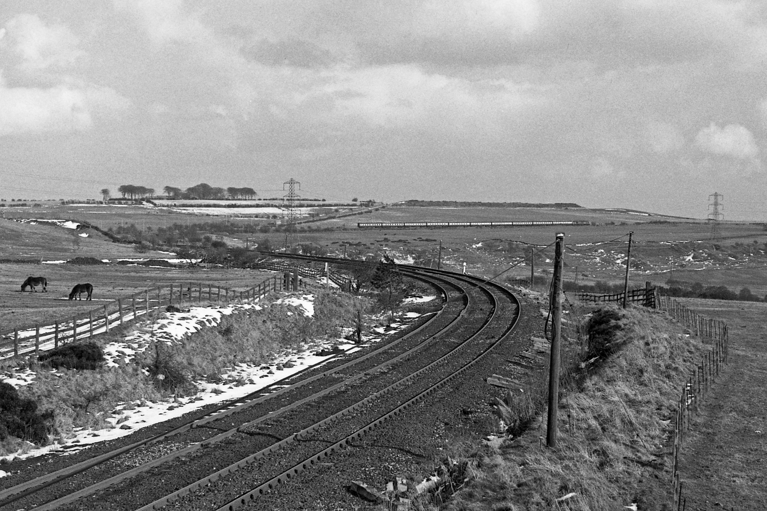 Tyne-Tees Ltd. climbing towards Annfield Plain 22-3-80 37114