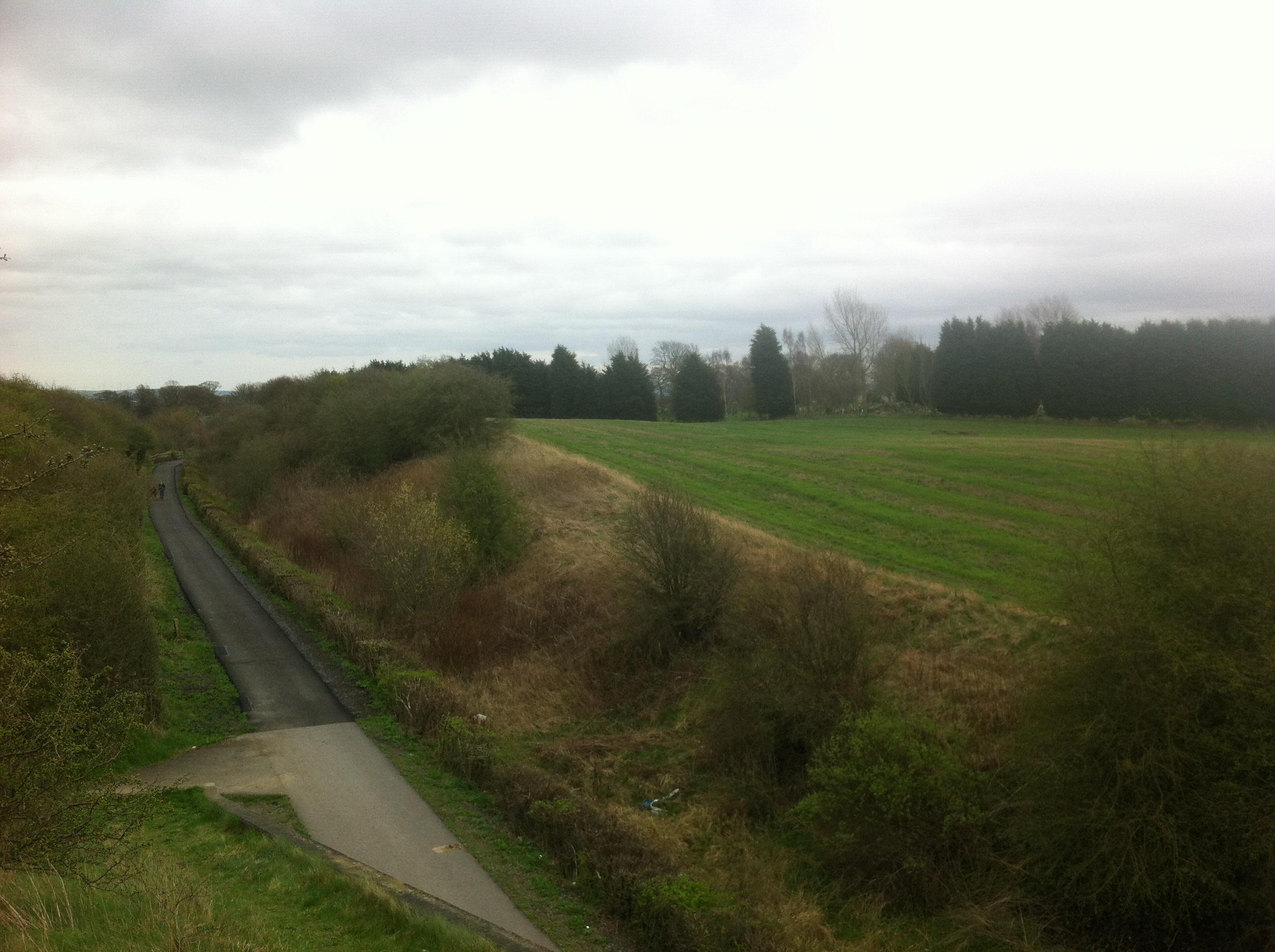 View from A693 road bridge