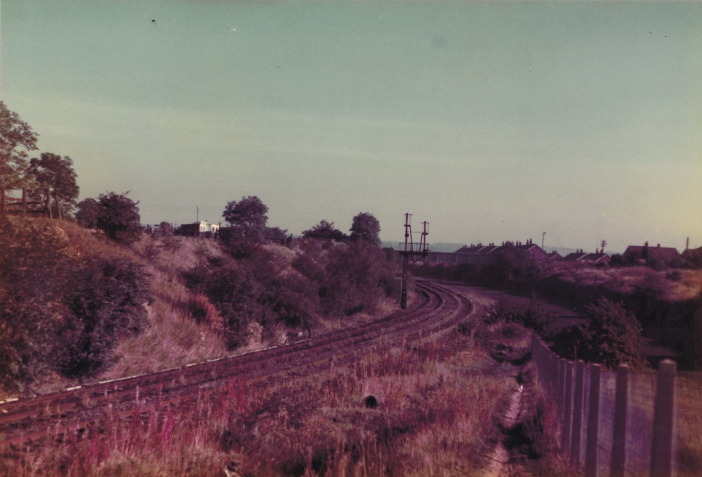 Looking from the site of Stella Gill sidings towards South Pelaw Junction on 6 October 1985. Photo Authors Collection