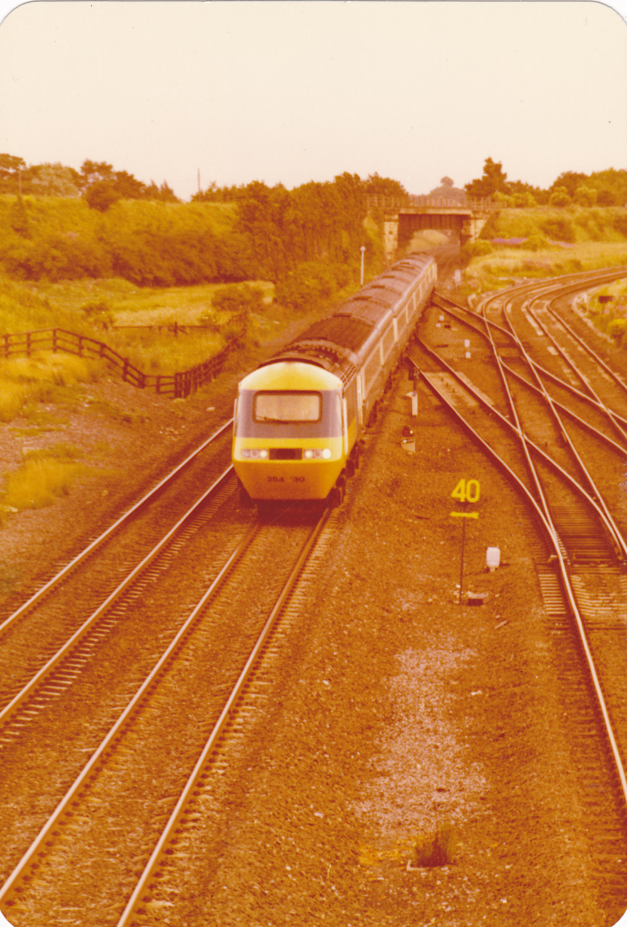 An HST passes Ouston Junction in the late 1970s. Photo copyright Colin Brewes