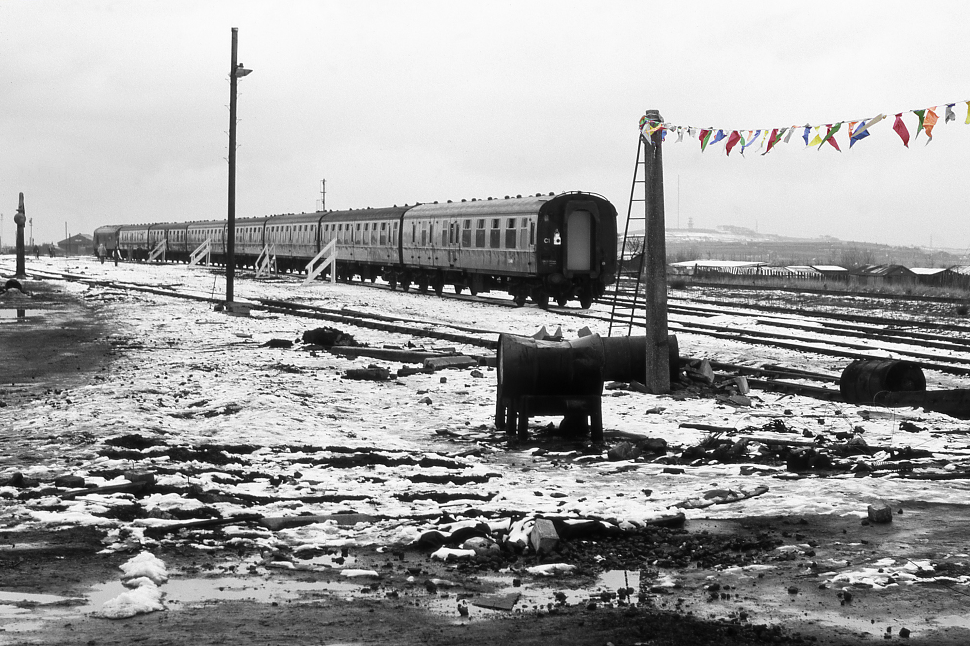 The last passenger train gets ready to leave Consett. Photo copyright Stephen McGahon