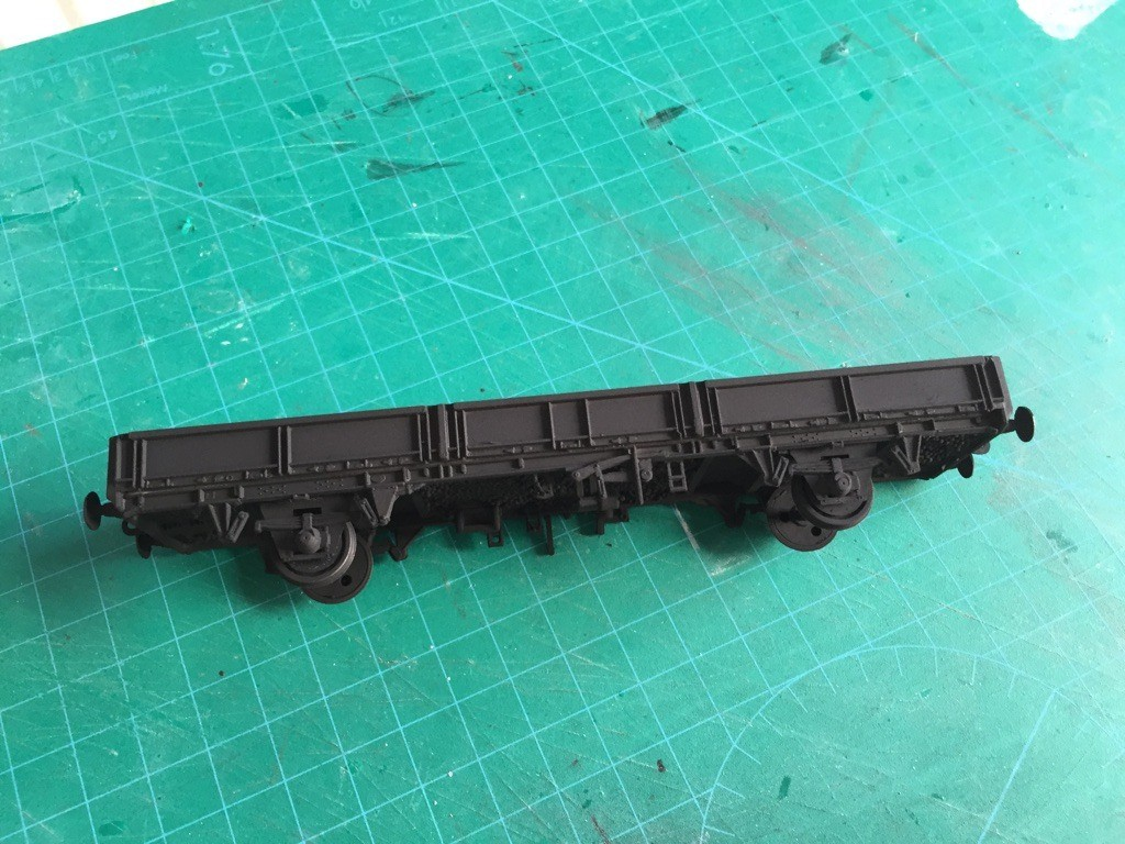 All in black ready for the main body colour.