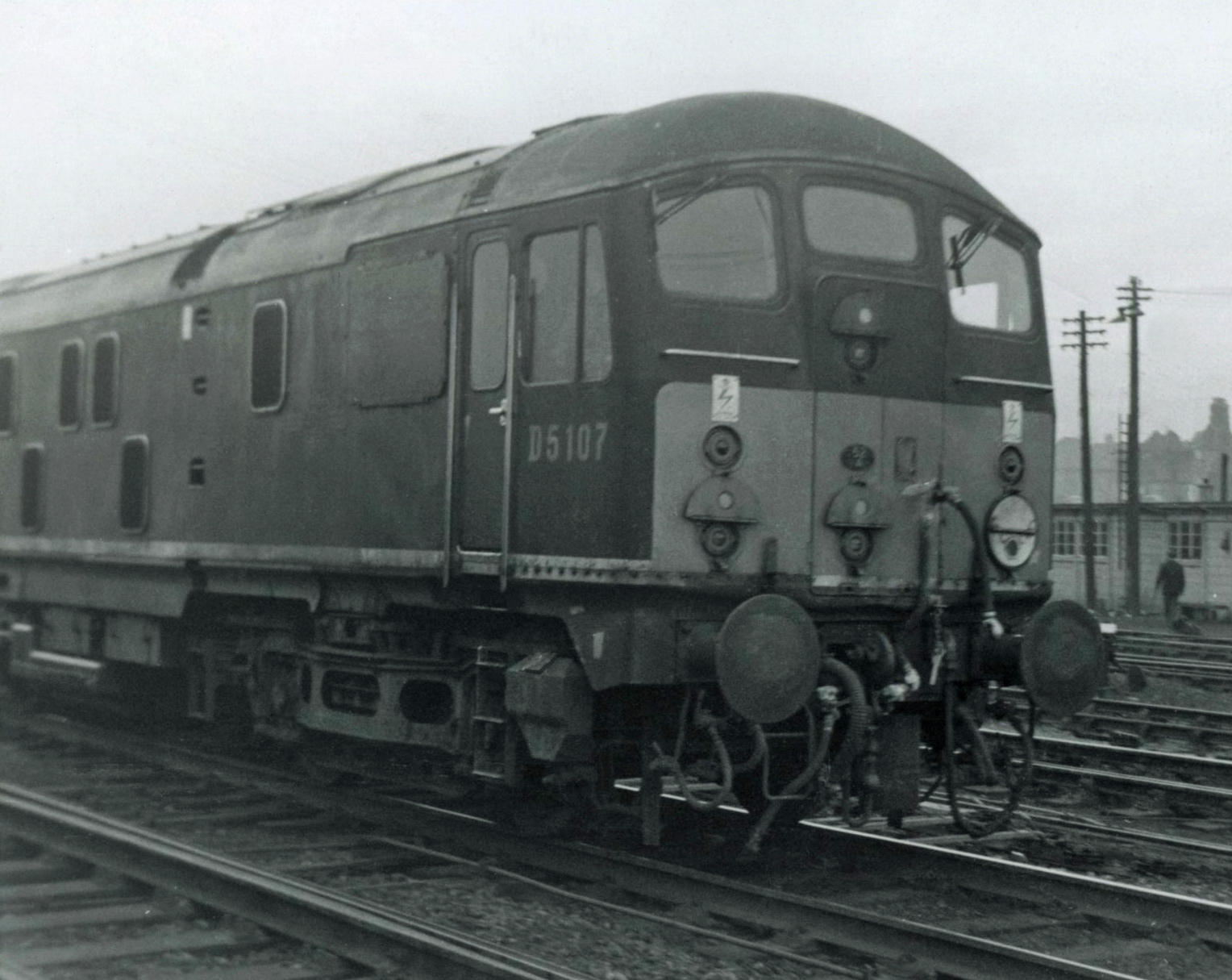 D5107 at Wearmouth on 31 January 1967.