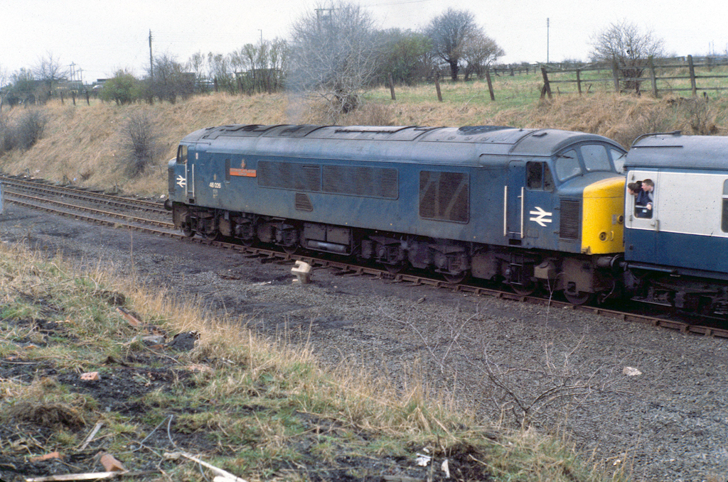 Another shot of 46026 having taken the turnout in the previous photo. Copyright John Carter