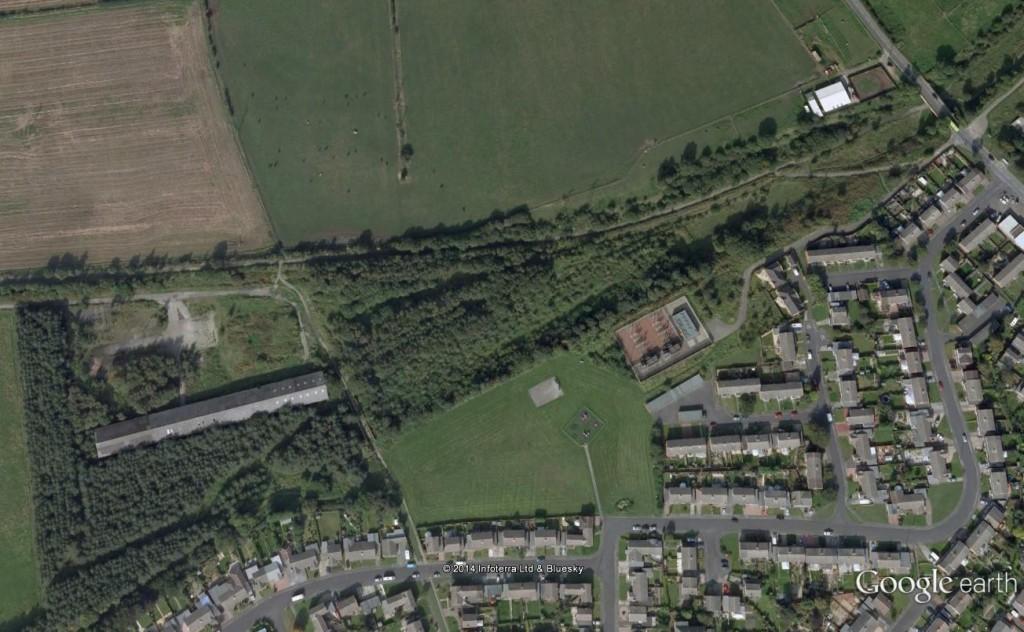 Google Earth Image of Stella Gill Sidings