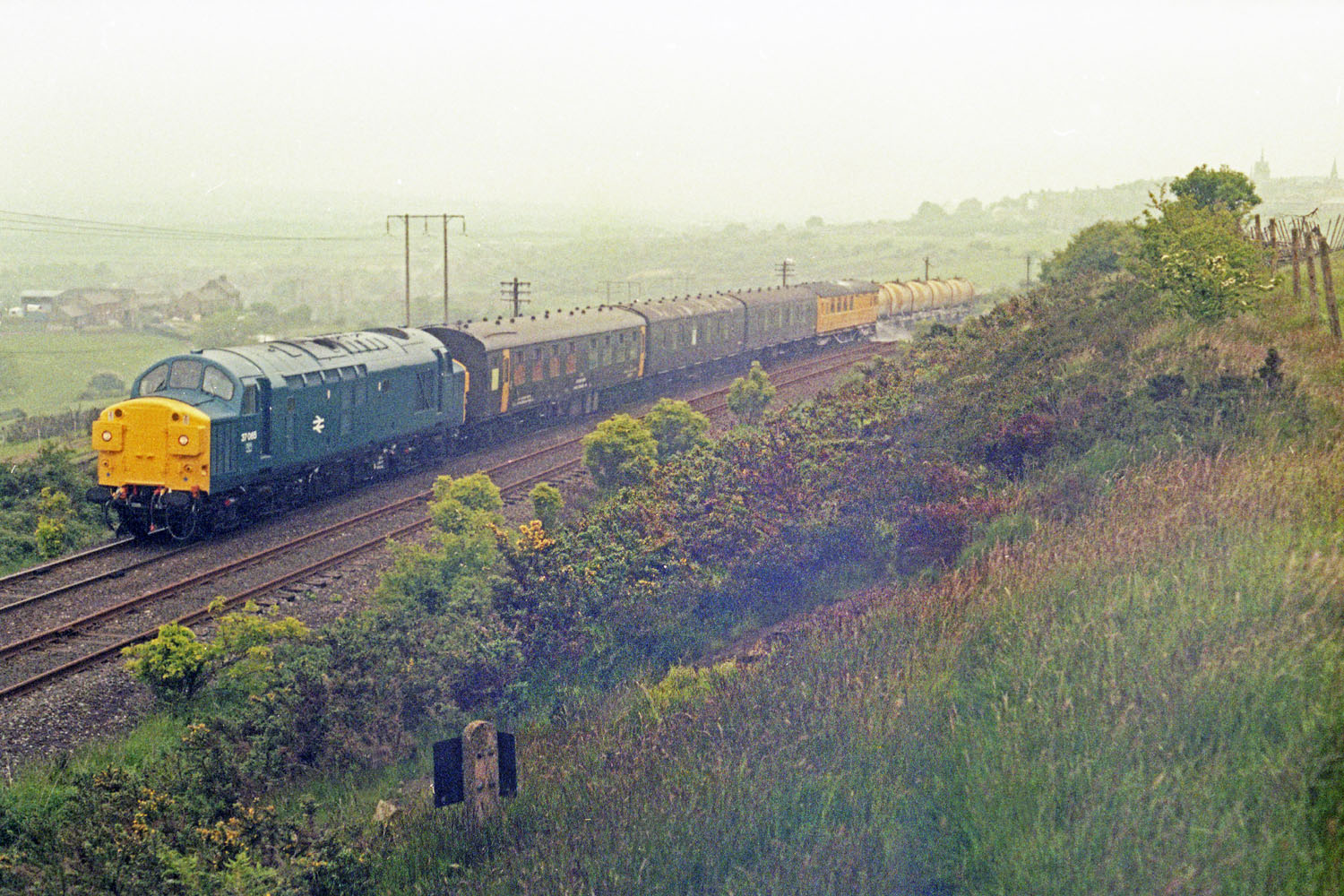 Oxhill 21-6-83. 37065 -weedkilling train