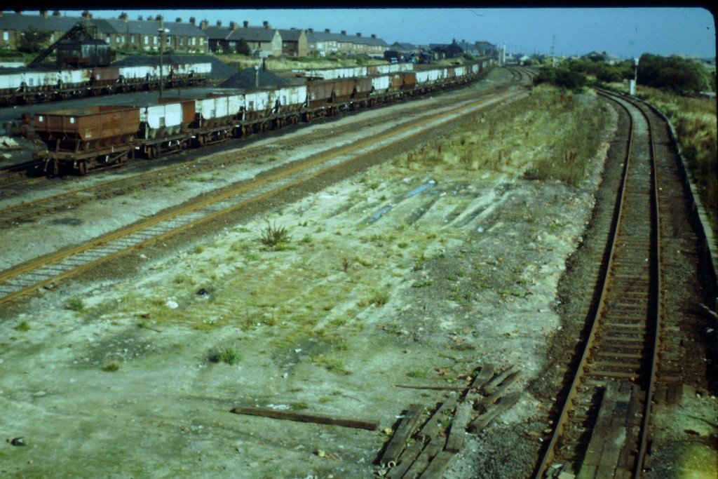 Coal wagons at the site of Consett Station in 1980. Photo copyright Colin Alexander