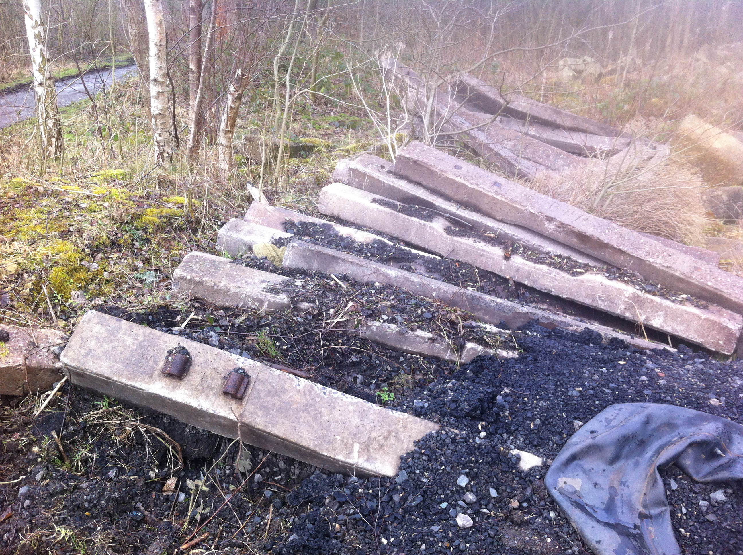 Concrete Sleepers at site of Beamish Station Goods Yard 1
