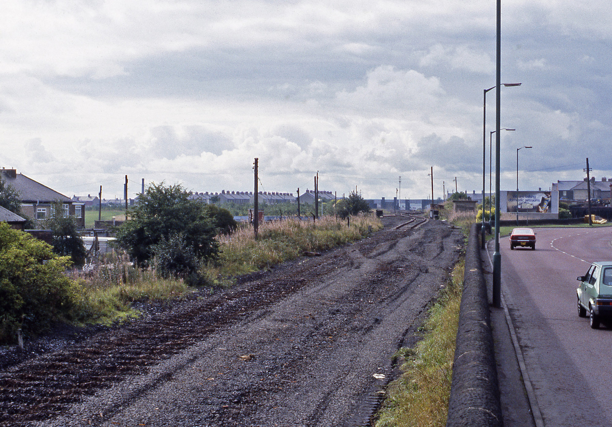 Consett is finally disconnected from the rest of the rail network on 25 September 1984. Photo copyright Stephan McGahon