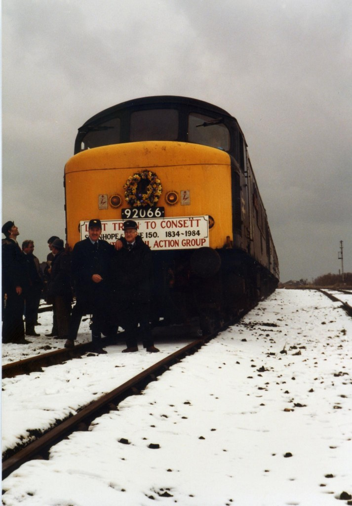 Last train at Consett