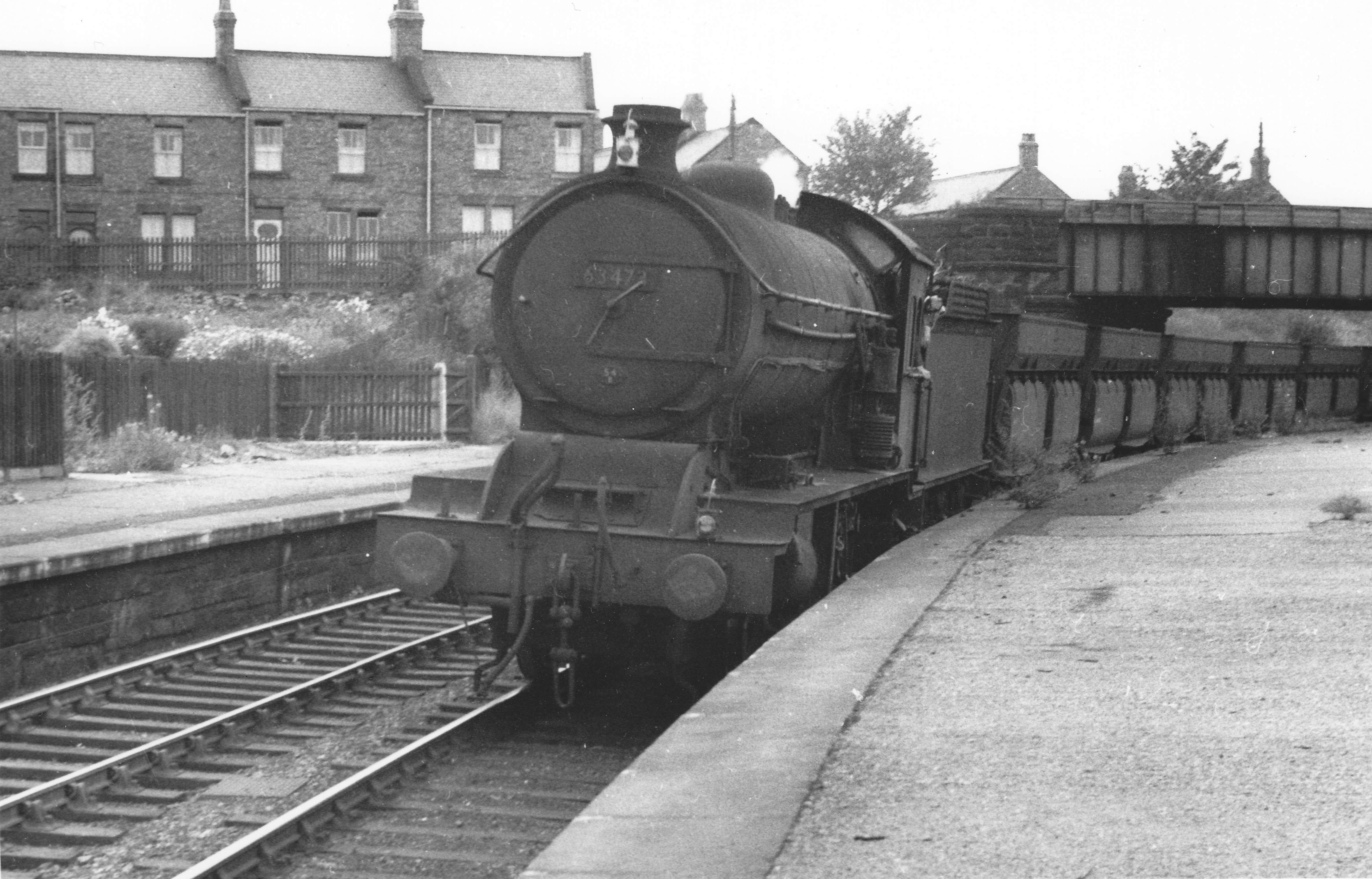 Q7 63473 at Pelton with Iron Ore Emptys heading towards South Pelaw sometime in the 1950s. Photo Author's Collection