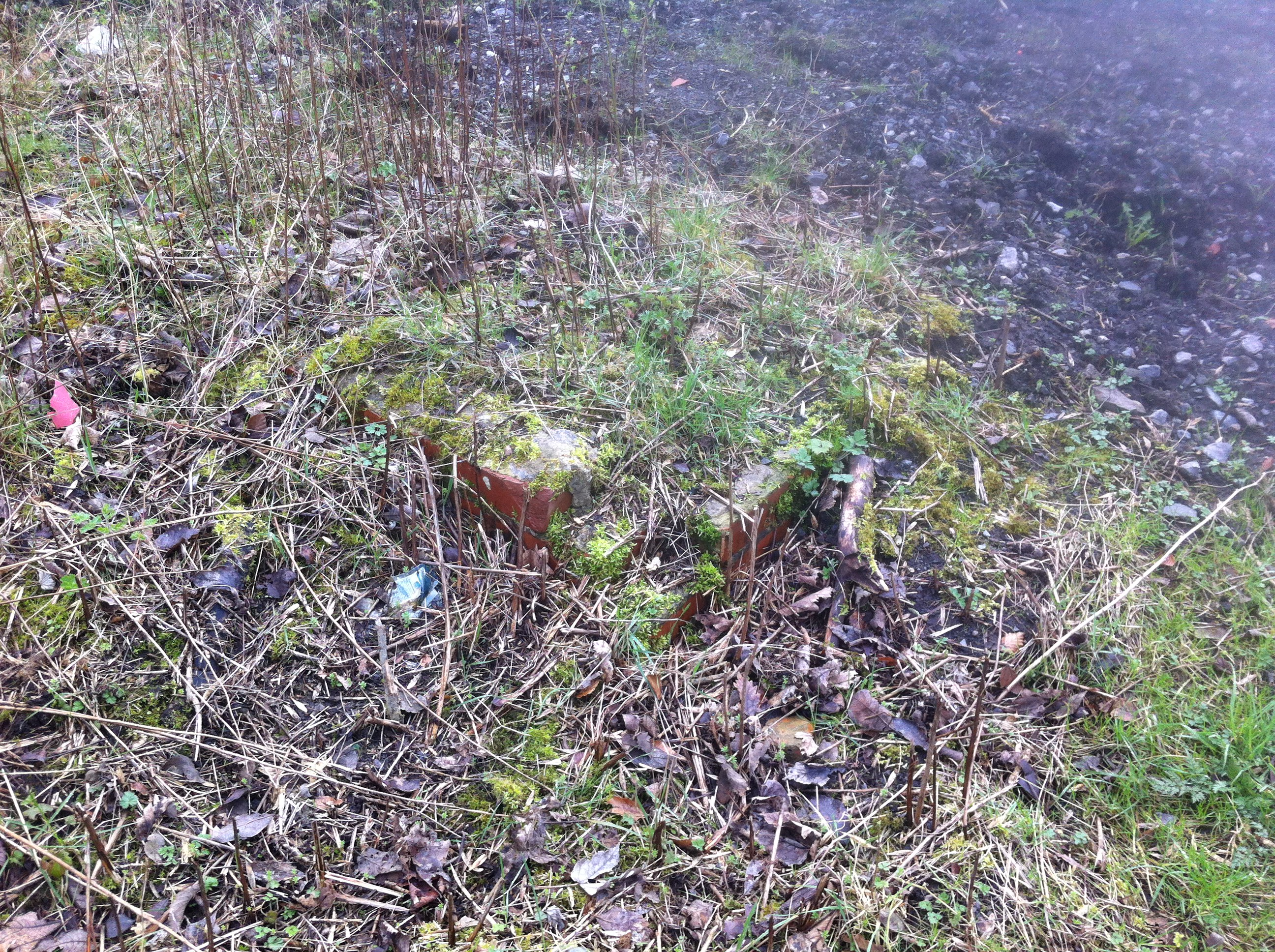 Remains of the base of Beamish Signal Box