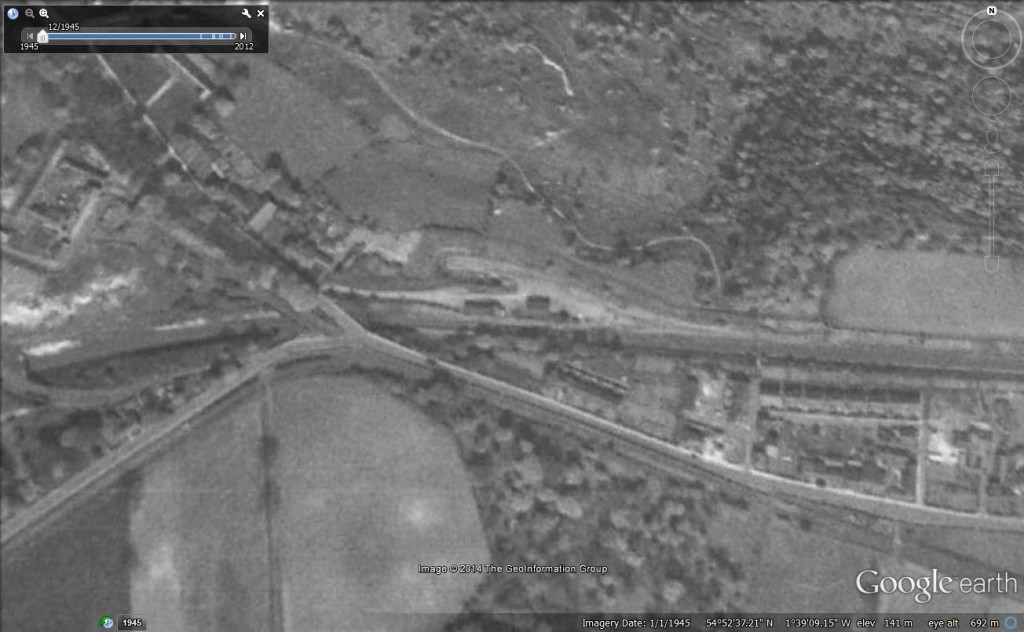 Site of Beamish Station 1945