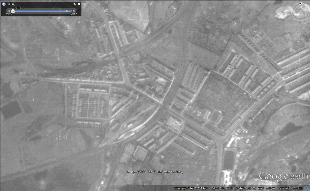 Site of Leadgate Station 1945
