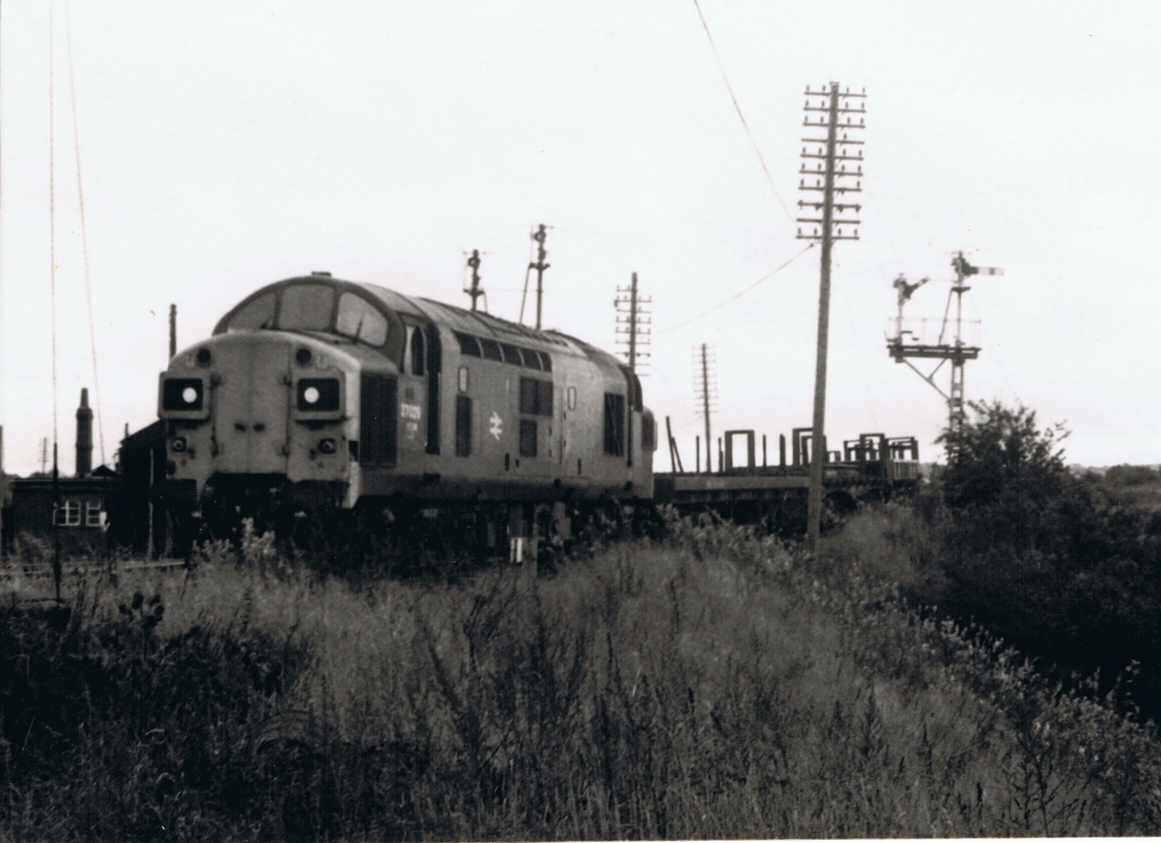 37029 on a steel train at Consett in 1979. Photo Authors Collection