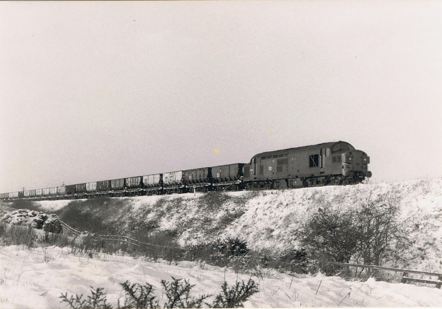 An unknown Class 37 on a coal train at Ochill in January 1978. Photo Authors Collection
