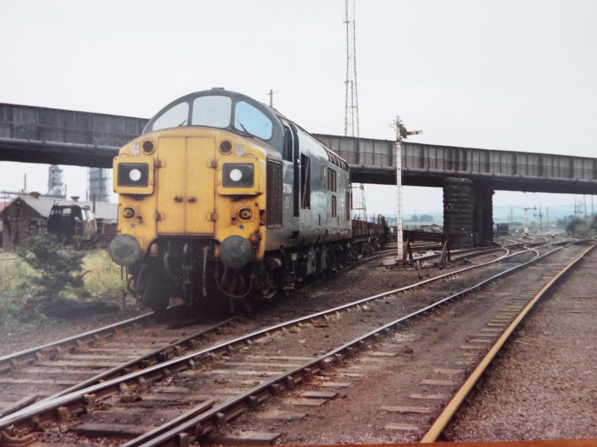 37094 with the 9P32 at Consett Low Yard on 19 September 1978. Photo copyright John Atkinson