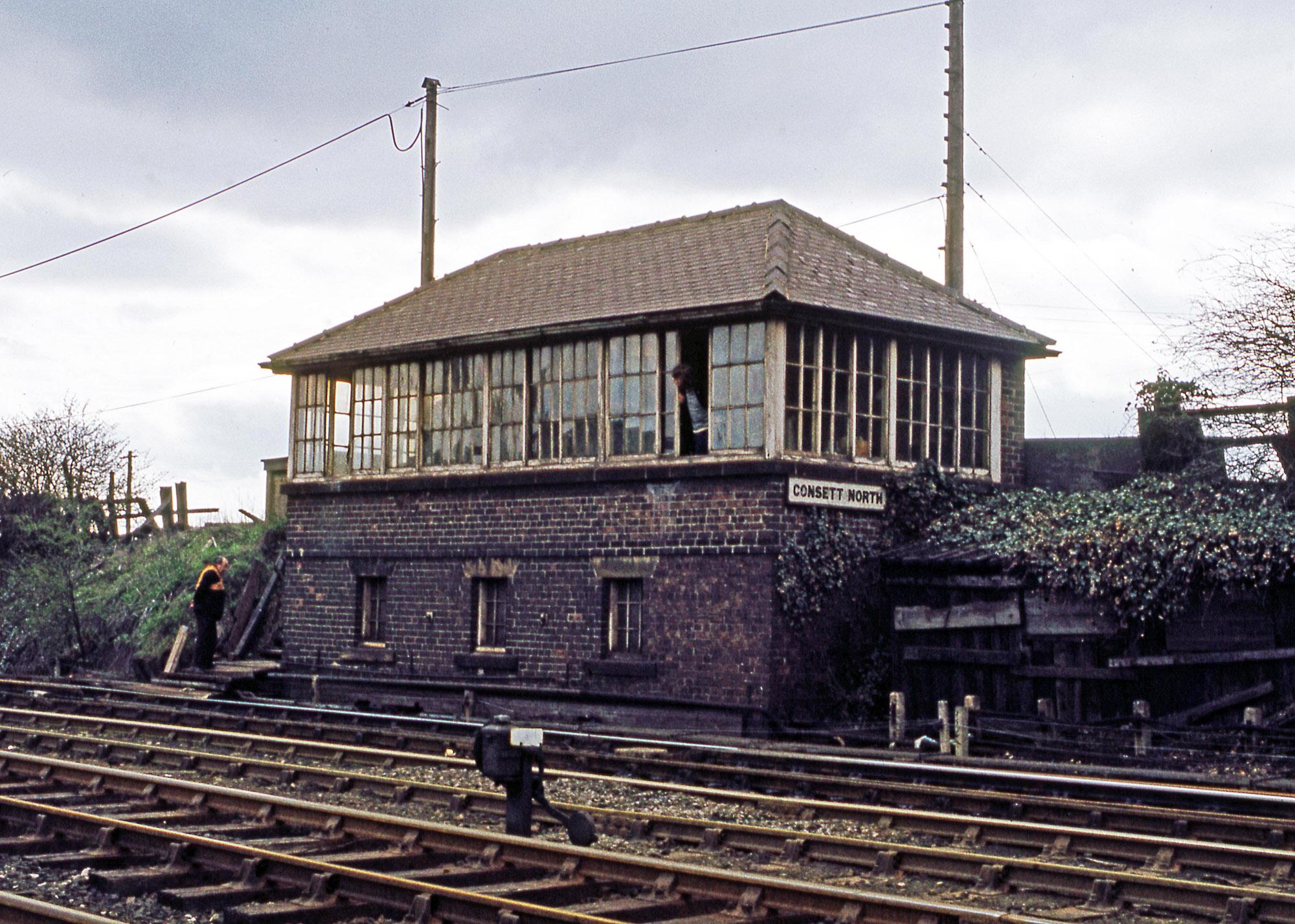 Consett North Signal Box 1 12 May 1979. Photo copyright Stephen McGahon